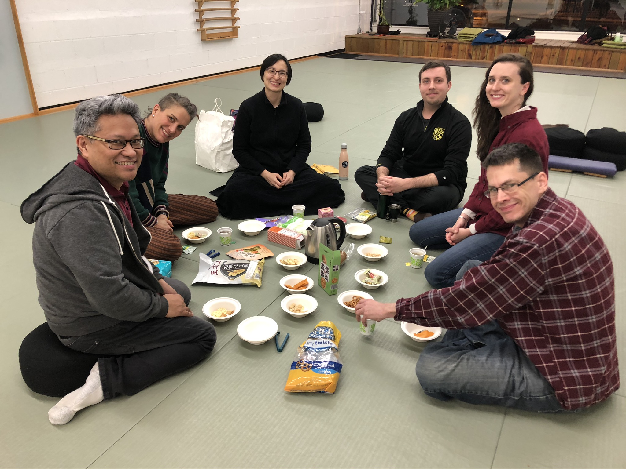 Meditation group at Dharma Story & Snack week