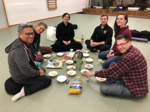Meditation group at Dharma Story & Snack week