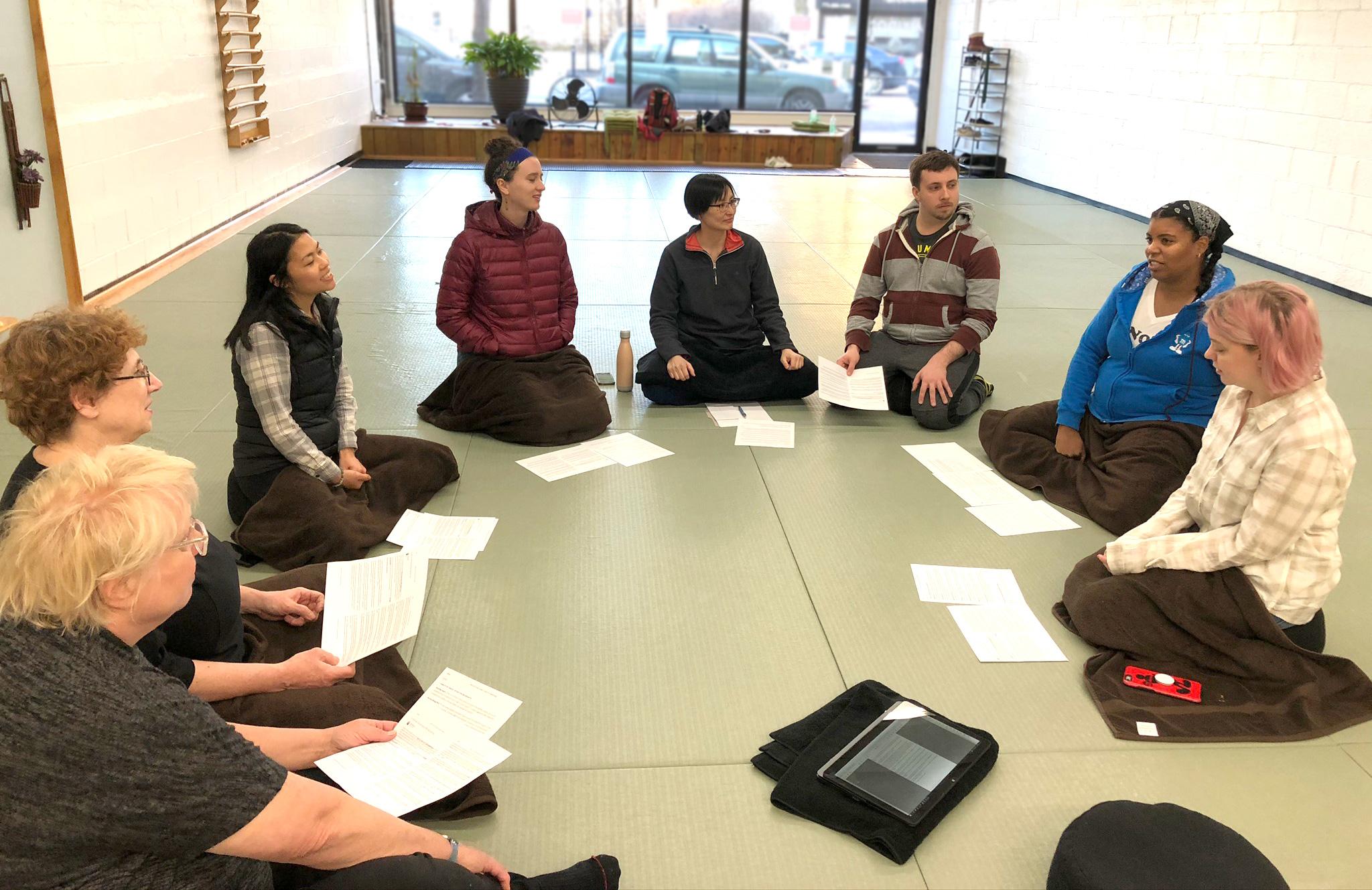 Meditation + Dharma Sharing (online)
