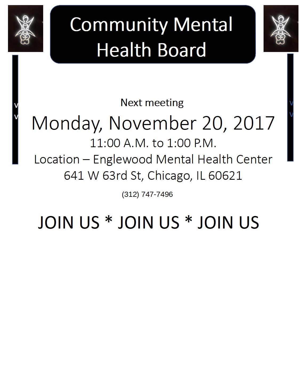 Meeting November 20, 2017- Englewood Mental Health Center