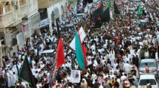 Saudi Shia protest against detentions in 2013