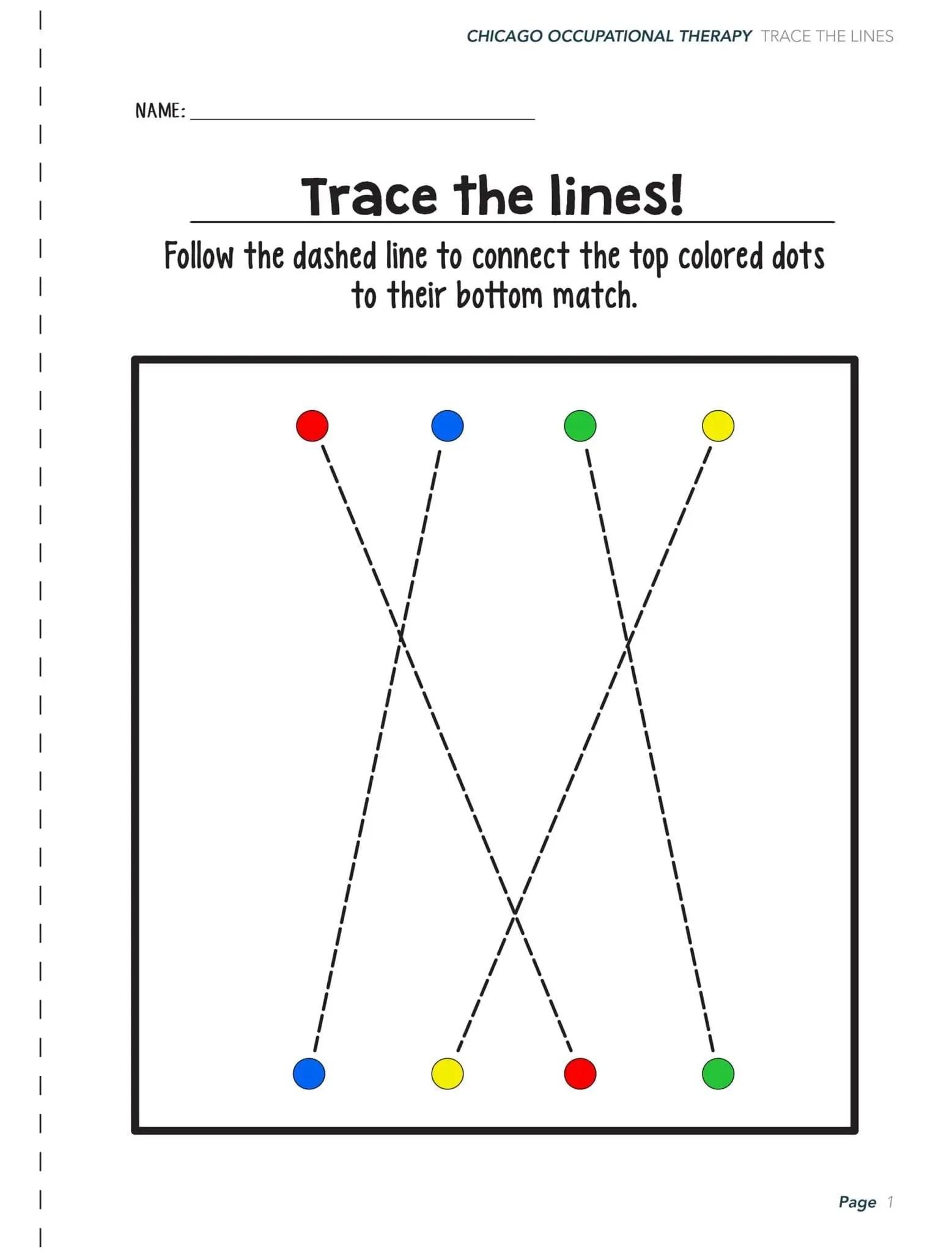 Visual Perceptual Worksheet