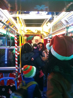 Ride the CTA Holiday Bus - Chicago on the Cheap