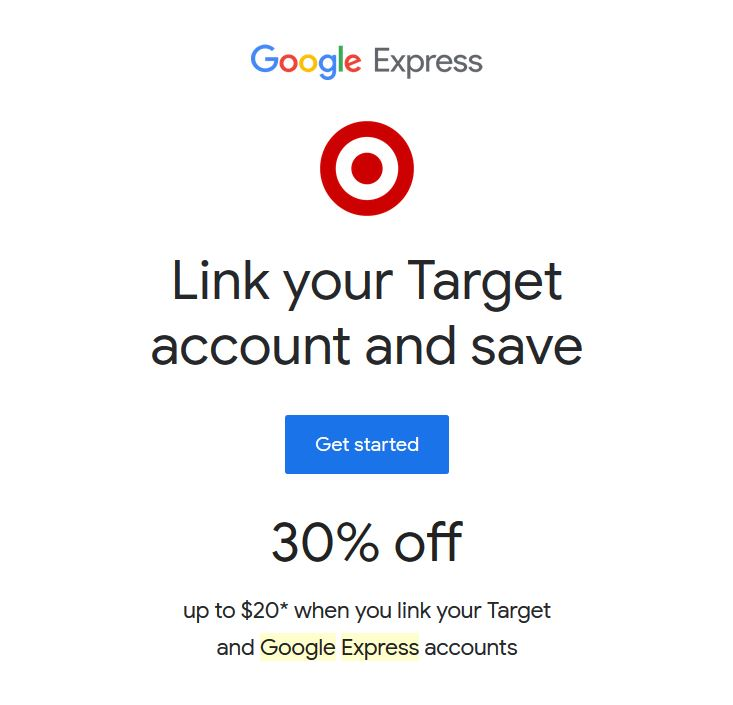 30% off at Target with Google Express - Chicago on the Cheap