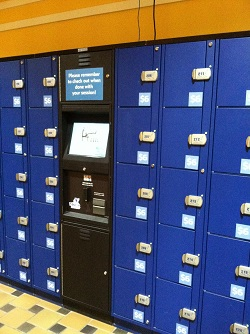 Lockers at Navy Pier