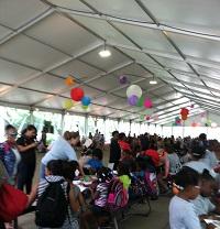 Millennium Park Family Fun tent