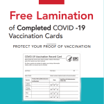 Office Depot offering free Covid card lamination Update
