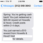 Spring Rewards Has gone out of business