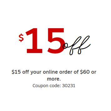 Staples: $15 off $60 online purchase (works on paper products)