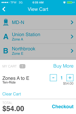 Ventra App Metra Ticket screen 11