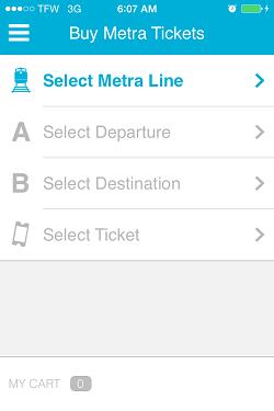 Ventra App Metra Ticket screen 3