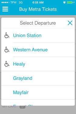 Ventra App Metra Ticket screen 6