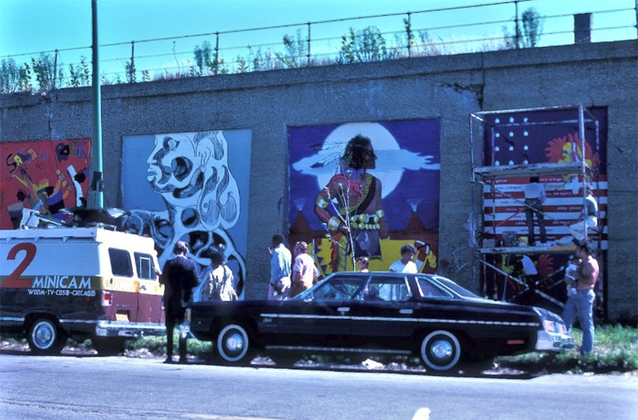 Murals at Aberdeen and Hubbard in 1973