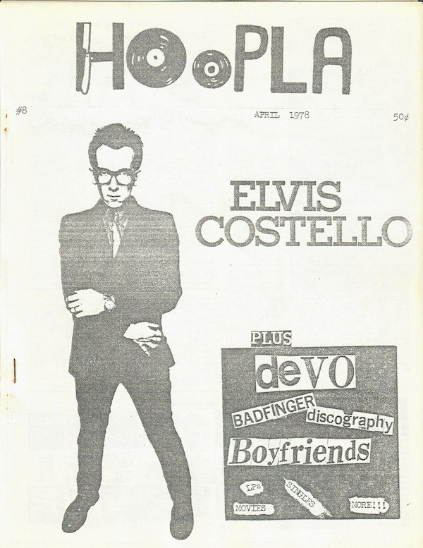 Issue eight of Peoria punk zine <i>Hoopla</i>, published in April 1978