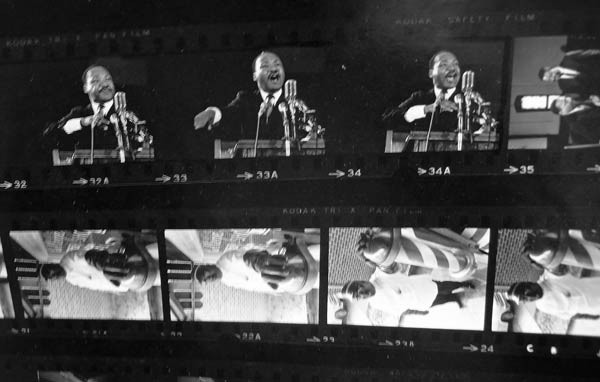 Contact sheet for shoot with Martin Luther King, Jr.