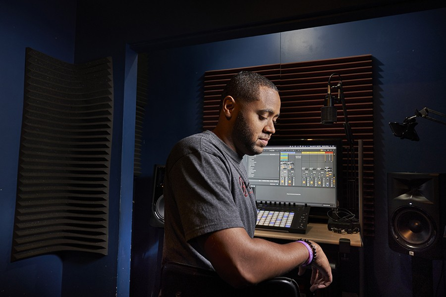 Insomniac apprentice engineer Low, also known as DJ James