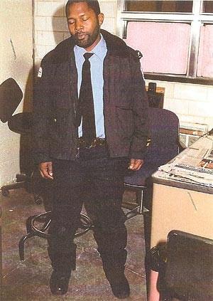 Evidence technician's photo of Alvin Weems