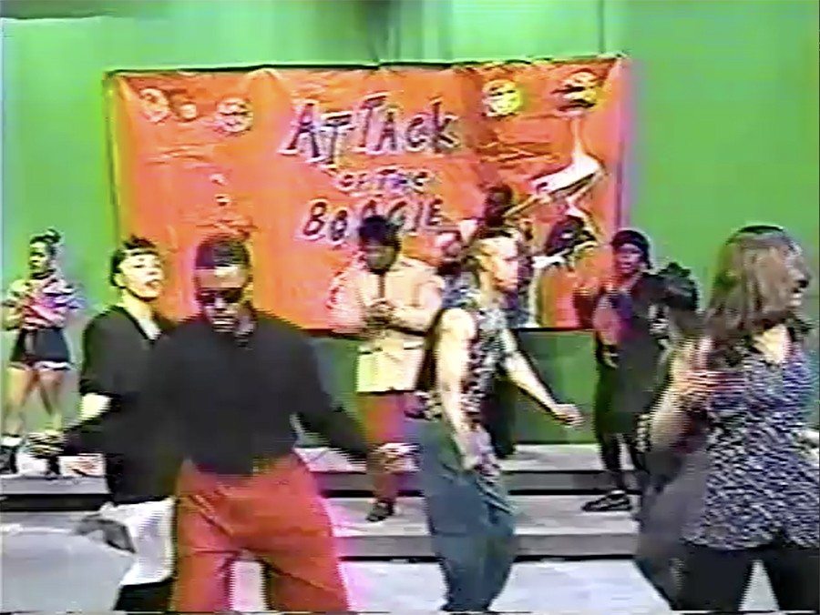 Dancers on <i>Attack of the Boogie</i> in 1993