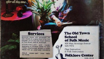 The cover of Bonnie Koloc's 1971 debut album, <i>After All This Time</i>, with ads from the very first issue of the <i>Reader</i>—which came out not long before the record did.