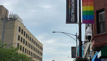 """New signs replace the """"Boystown"""" banners in the north side neighborhood."""