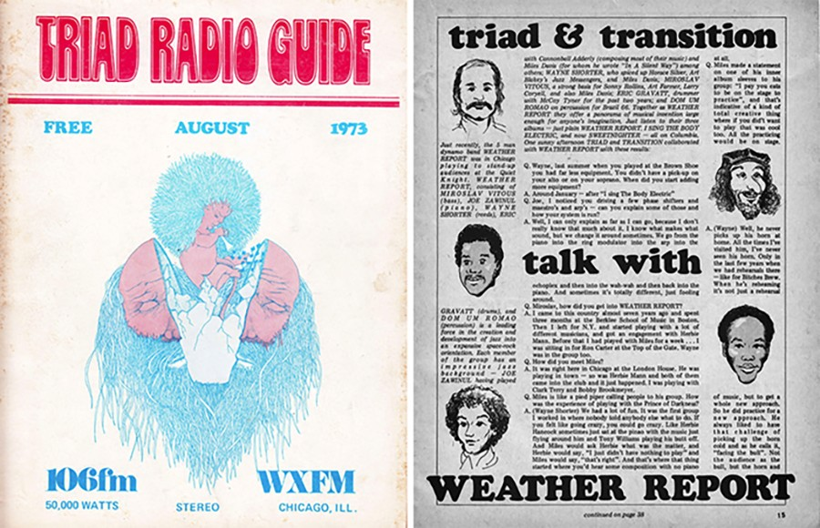 The August 1973 Triad radio guide included an interview with the members of Weather Report (Jaco Pastorius wouldn't join for another few years).