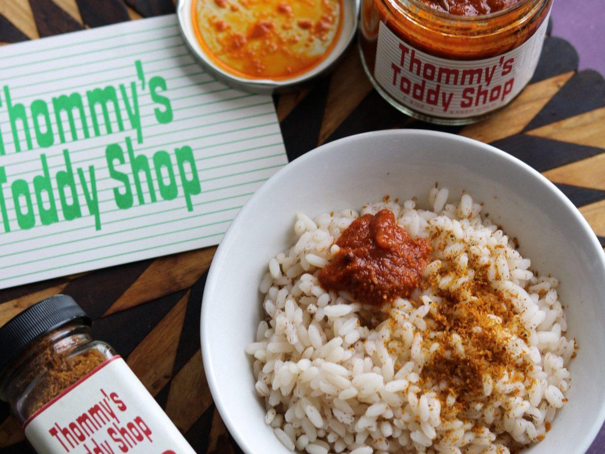 Coco Podi and Tomato Thokku, Thommy's Toddy Shop