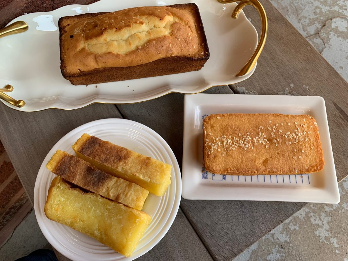 The Vietnamese delight banh khoai mi nuong and Guatemalan quesadillas