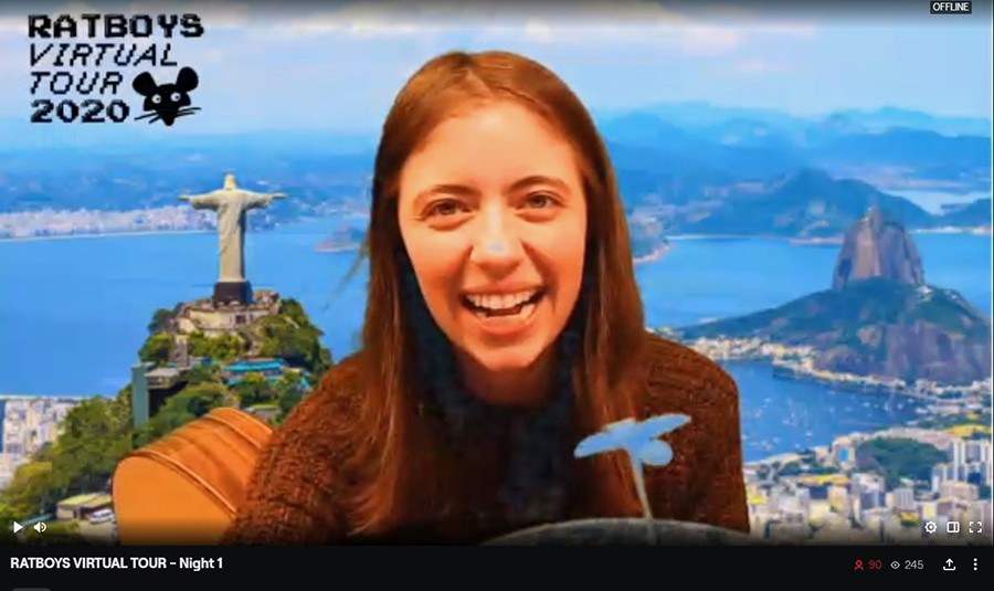 On the first night of <i>Ratboys Virtual Tour</i>, Julia Steiner transported herself to Rio de Janeiro.