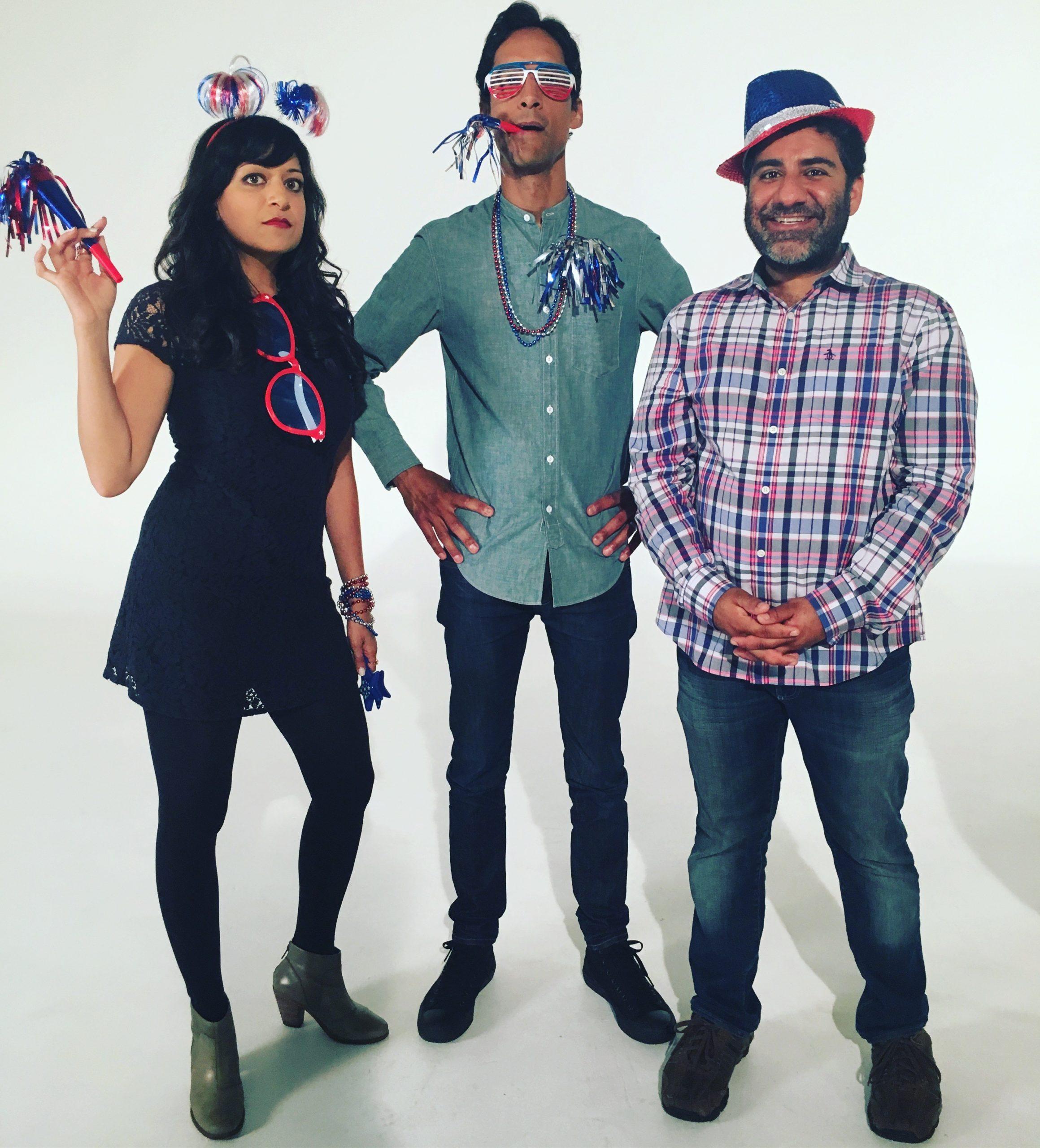 Sonal Shah, Danny Pudi, and Cheena