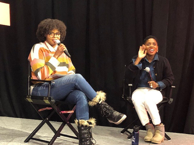 Jacqueline Coley from Rotten Tomatoes interviewing <i>Zola</i> director Janicza Bravo