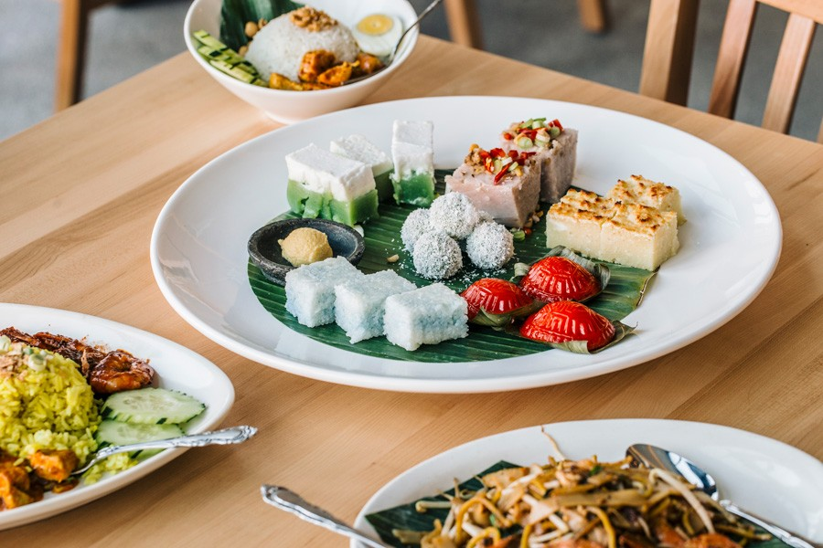 The majority of Kapitan's menu is nyonya-focused, with a mix of curries, kuih, and more.