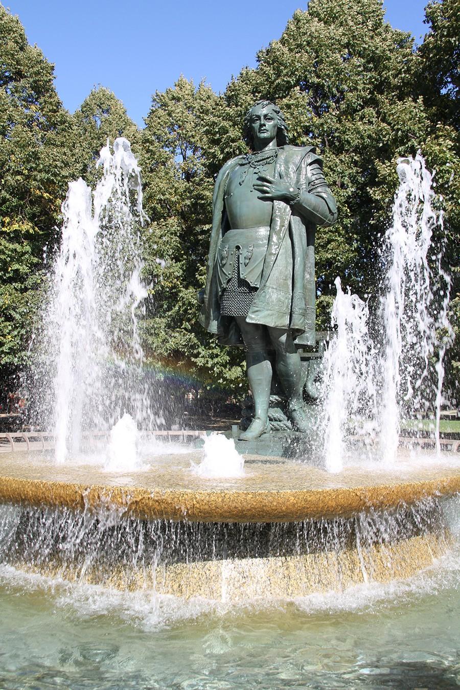 Statue of Christopher Columbus in Arrigo Park