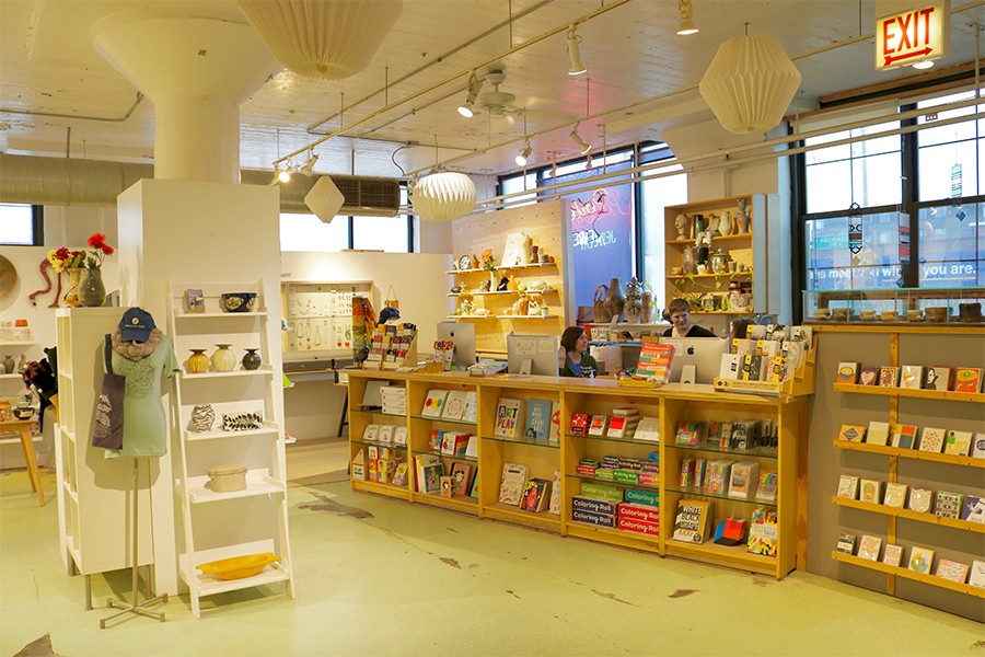 The Gallery Shop offers pottery, jewelry, cards, books, toys, clothing, prints, accessories, and more.