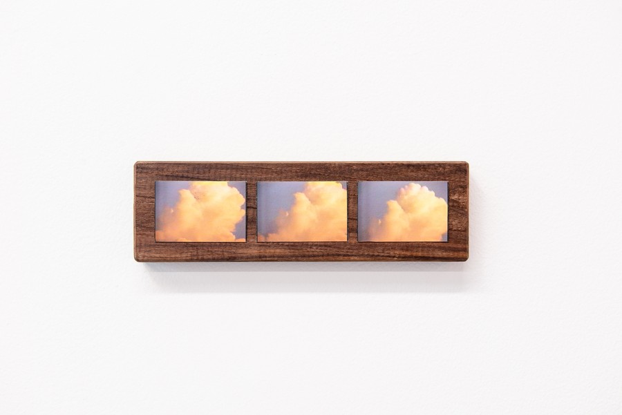 Hyun Jung Jun, <i>bubbles and clouds in the afternoon</i>, archival inkjet print mounted on walnut.