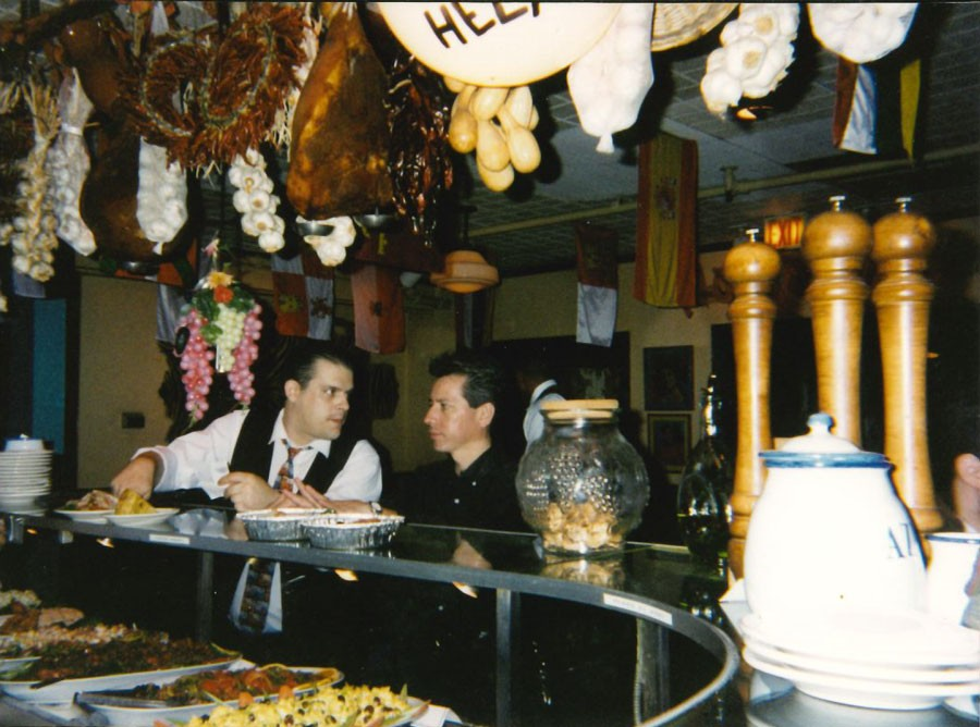 It's unclear when—or why—the adornments above the bar at Cafe Ba-Ba-Reeba! were retired.