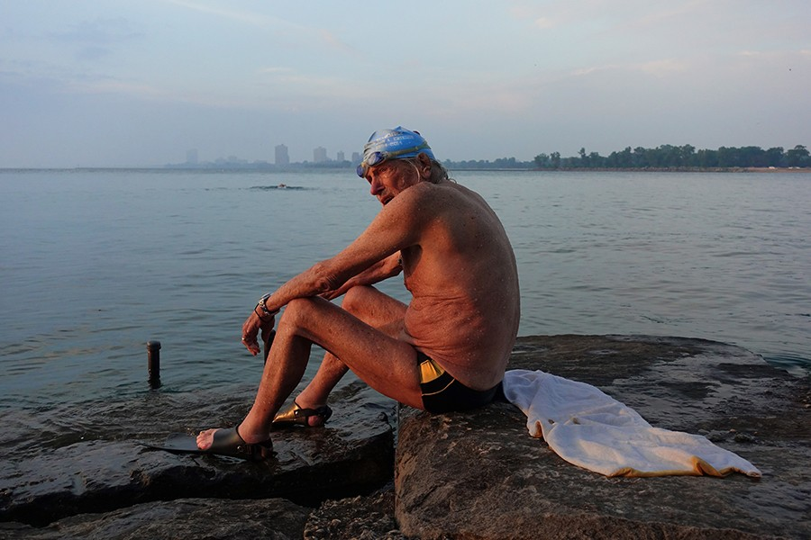 Record-setting swimmer Ted Erikson, 92, still swims with the Southside Pod.