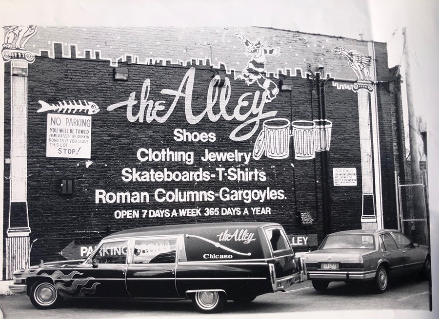 Mark Thomas of the Alley took this photo from the Punkin' Donuts parking lot in the 90s.