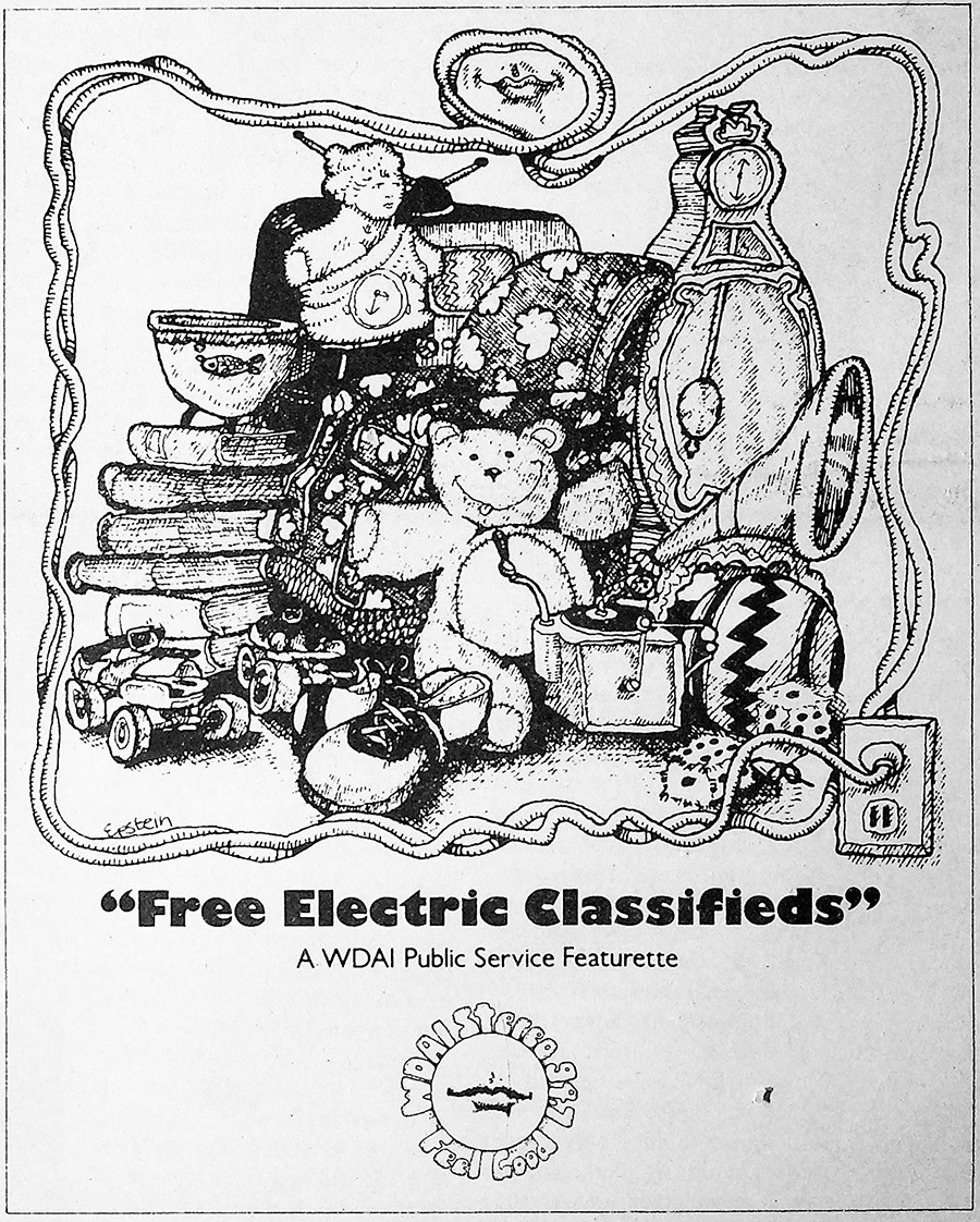 On October 8, 1971, WDAI sponsored the <i>Reader</i>'s free classifieds.