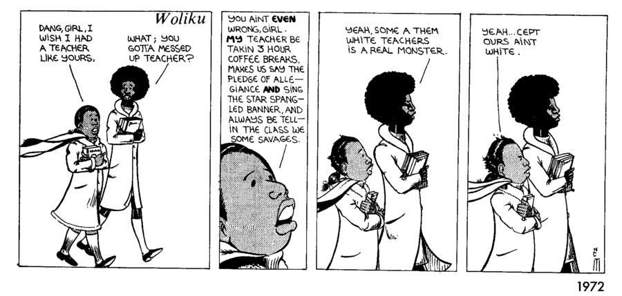 A 1972 strip by artist Seitu Hayden.