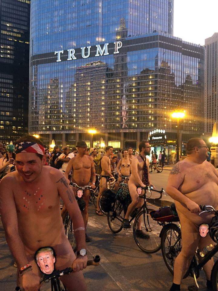 We're all glad Donald Trump (presumably) isn't participating in the World Naked Bike Ride on Sat 6/10.