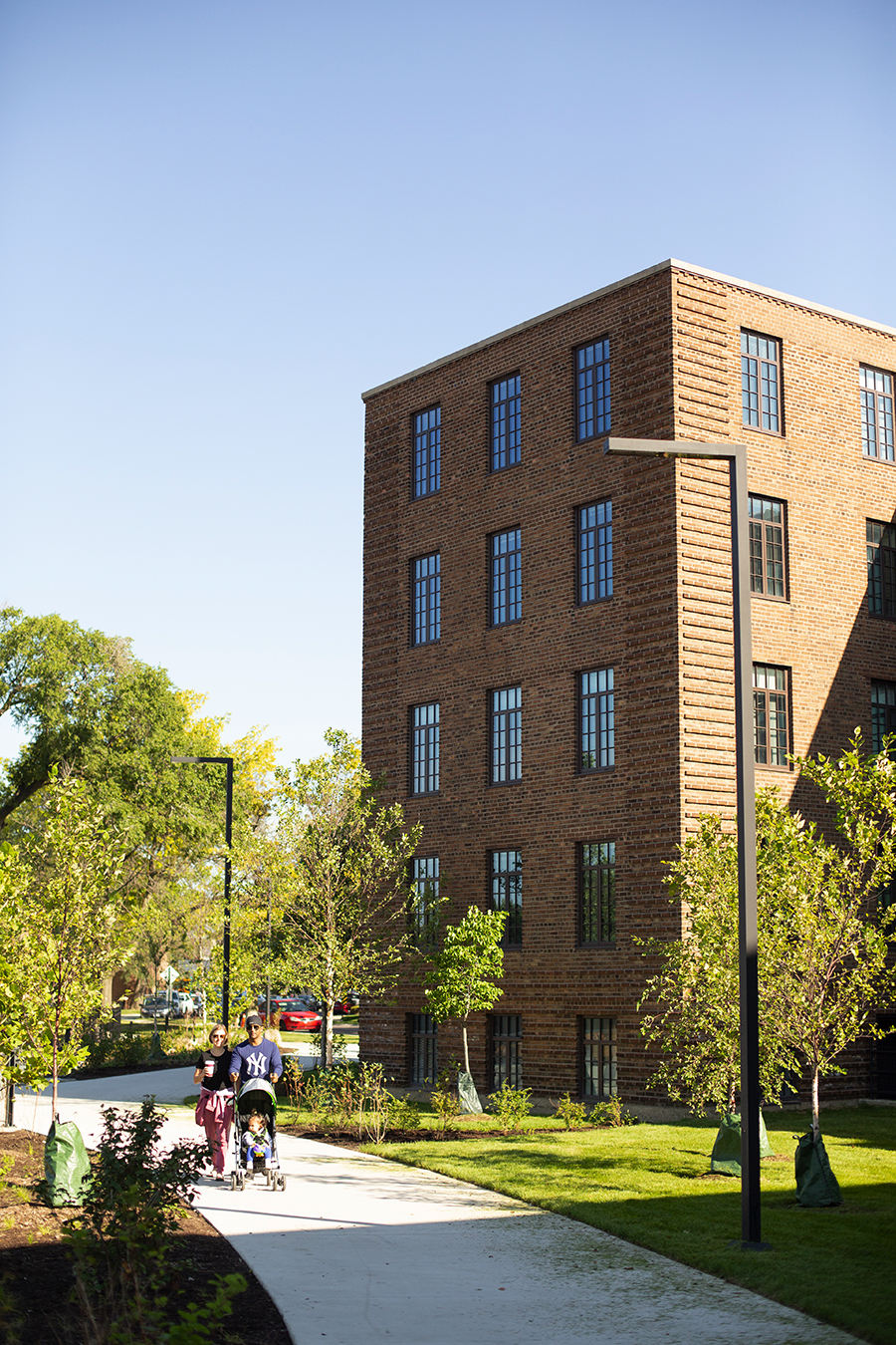 The redevelopment of the Lathrop Homes into a mixed-income community was led by Related Midwest. Many of the old buildings were rehabbed, and unsubsidized rents for studios now start at $1,200.