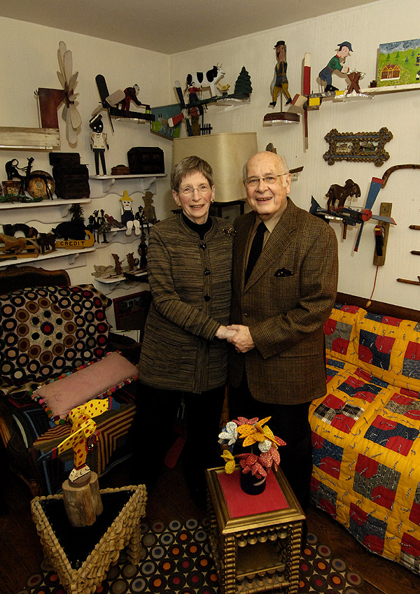 Betty Fae and Bernard Nusinow, the dairy bottles
