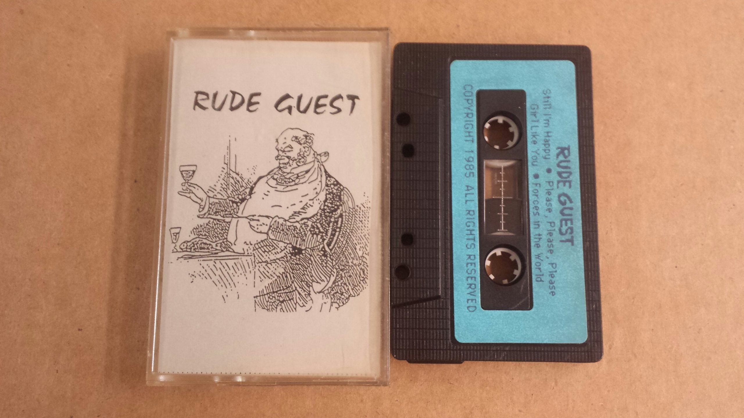 An original Rude Guest cassette