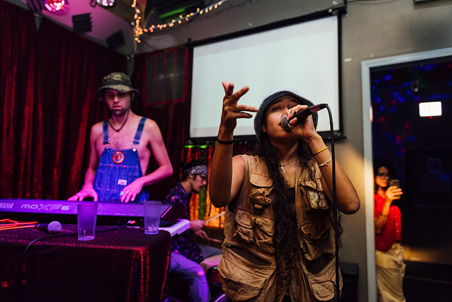 Vocalist Sonia Morant performs at Open Beats with producer CoryaYo.