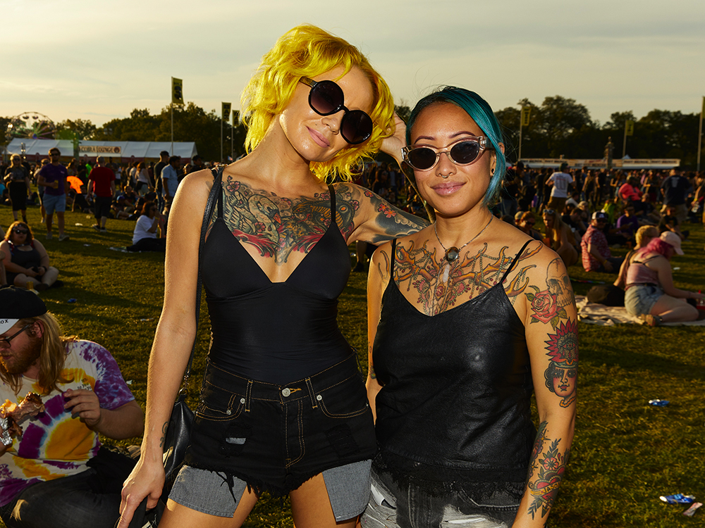 Jessica and Darja flew from Los Angeles to be at Riot Fest.