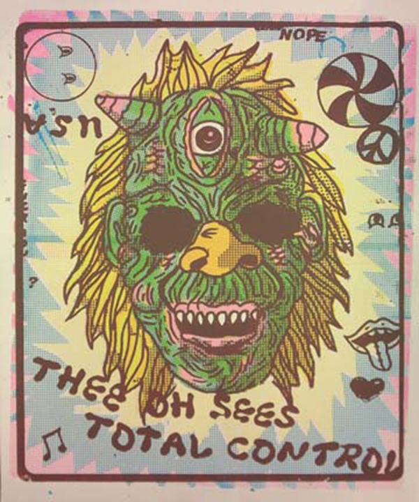 A William Keihn poster for Thee Oh Sees andTotalControl