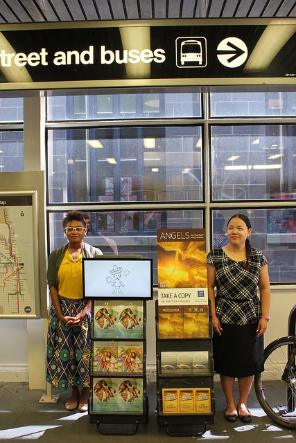 Jehovah's Witnesses at the CTA's Roosevelt station