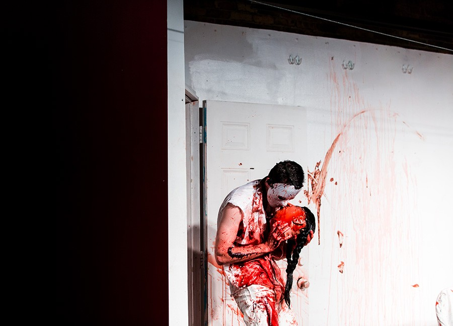 Enjoy the gratuitousness of <i>Splatter Theater,</i> a spoof of horror flicks, at the Annoyance Theatre Sat 10/28.