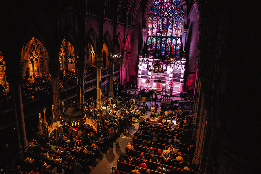 An Ambient Church concert with Robert Rich, celebrating the 2018 autumnal equinox at Saint Ann & the Holy Trinity in Brooklyn