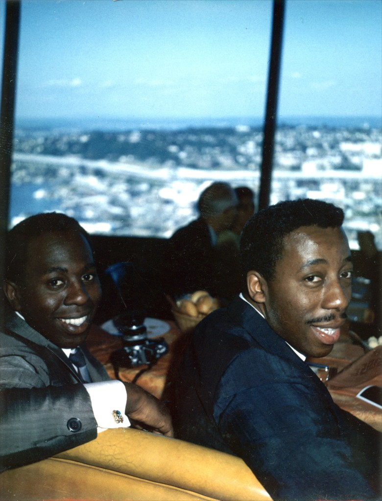 Curtis Mayfield and Eddie Thomas in the late 1960s